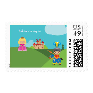 Fairytale Castle Knight Personalized Postage Stamp