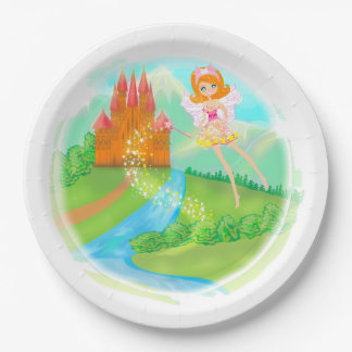fairytale castle Paper Plate