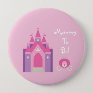 Fairytale Castle Personalized Mommy to Be Button