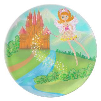 fairytale castle Plate