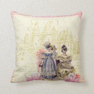 Fairytale Castle & Princesses Throw Pillow