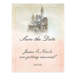 Fairytale Castle Storybook Save The Date Postcard