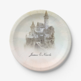 Fairytale Castle Storybook Wedding Party Plates