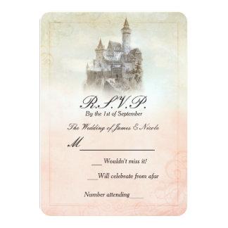Fairytale Castle Storybook Wedding RSVP Card