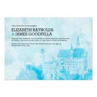 Fairytale Castle Wedding Invitations Personalized Invites