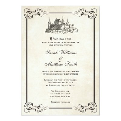 Once Upon a Time Wedding Invitation | Zazzle