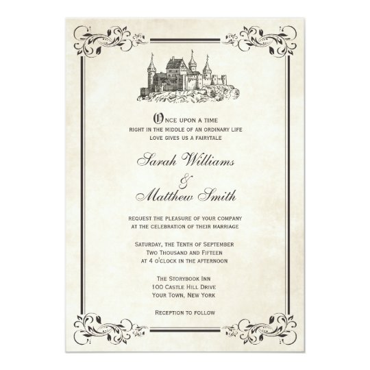 Fairytale Castle Wedding Invitations Zazzlecom