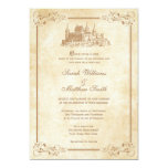 "Fairytale Castle Wedding Invitations 5"" X 7"" Invitation Card"