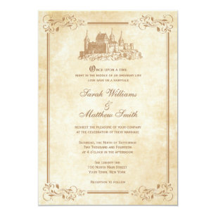 Fairytale Wedding Invitations Zazzle