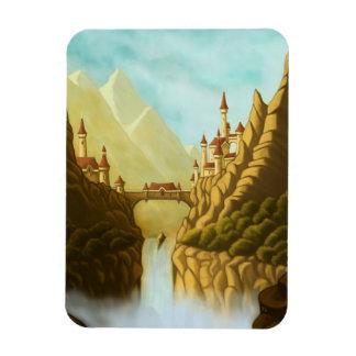 fairytale castles fantasy landscape art magnet