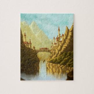 fairytale castles fantasy landscape art puzzle