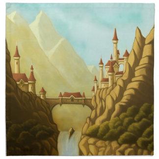fairytale castles napkin