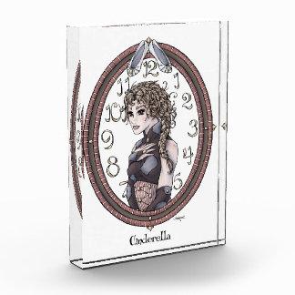 "Fairytale ""Cinderella"" Fantasy Art Crystal Plaque Acrylic Award"