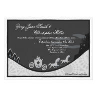 Fairytale Cinderella Theme Wedding Invite