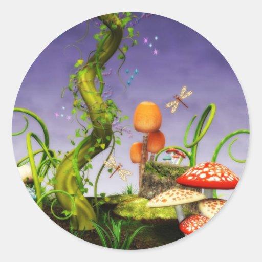 fairytale classic round sticker