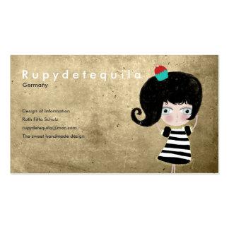 Fairytale dessert doll hope dream scary love cards business card