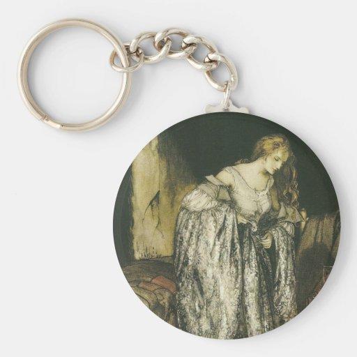 Fairytale Dress by Arthur Rackham Keychain