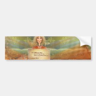 Fairytale Fall Psalm 120 Filled With Joy Bumper Sticker