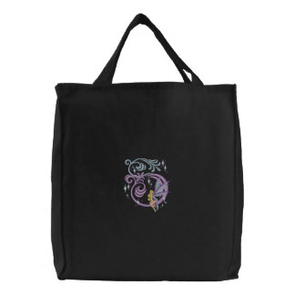 Fairytale Fantasy Embroidered Tote Bag