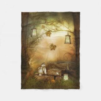 Fairytale Forest Small Fleece Blanket