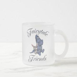 Fairytale Friends 10 Oz Frosted Glass Coffee Mug