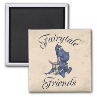 Fairytale Friends 2 Inch Square Magnet