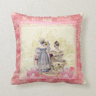 Fairytale Girls & Castle Custom Throw Pillow