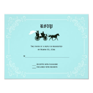 Fairytale Horse and Carriage RSVP Response Cards