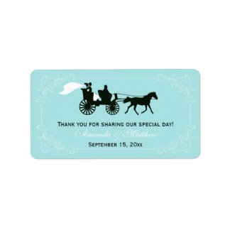 Fairytale Horse and Carriage Wedding Favor Labels