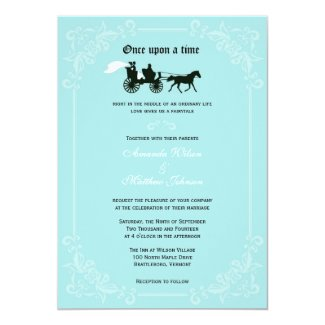 Fairytale Horse and Carriage Wedding Invitations