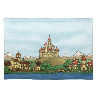fairytale kingdom fantasy landscape placemat