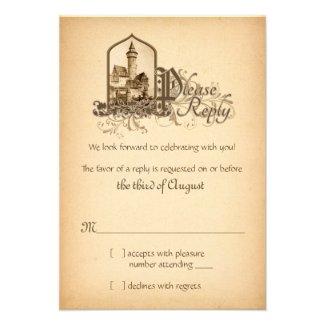 Fairytale Medieval Castle Once Upon Wedding RSVP
