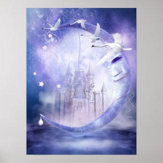 Fairytale Moon Castle Poster