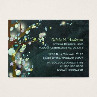 Fairytale Night Trees Custom Business Cards