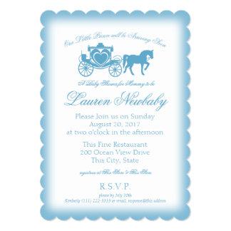 Fairytale Prince Blue Baby Shower Card