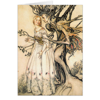 Fairytale Princess and Tree Elf Greeting Card