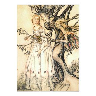 Fairytale Princess and Tree Elf Invitations