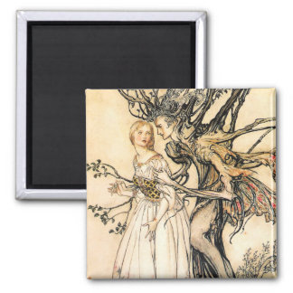 Fairytale Princess and Tree Elf Magnet