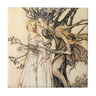 Fairytale Princess and Tree Elf Tile