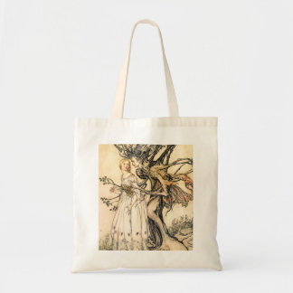Fairytale Princess and Tree Elf Tote Bag