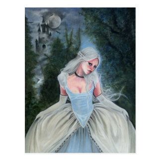 Fairytale Princess Castle glass slipper POSTCARD