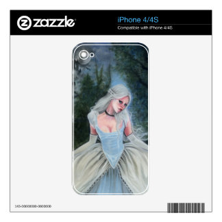 Fairytale Princess Castle Glass Slipper Skin For The iPhone 4