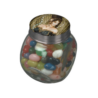 Fairytale Princess Glass Candy Jar