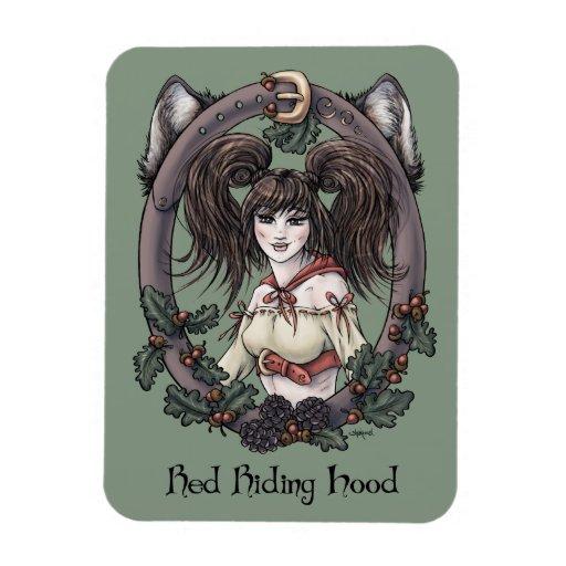 "Fairytale ""Red Riding Hood"" Fantasy Art Magnet #2"