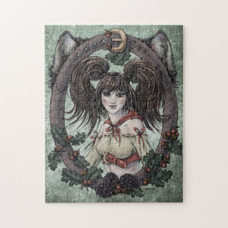 """Fairytale """"Red Riding Hood"""" Fantasy Art Puzzle"""