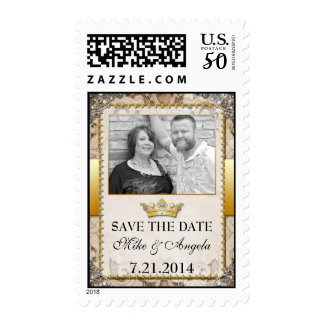 Fairytale Save the Date Photo Postage Stamp
