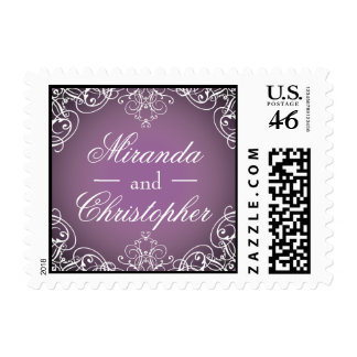 Fairytale Scroll Personalized Wedding Postage