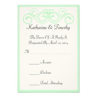 Fairytale Scroll Wedding RSVP Custom Announcement