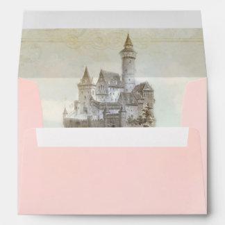 Fairytale Storybook Castle Invitation Envelope