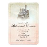 Fairytale Storybook Castle Wedding Rehearsal Card
